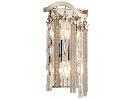 Corbett Lighting Chimera Tranquility Silver Lear Two-Light 7'' Wide Wall Sconce CT17612