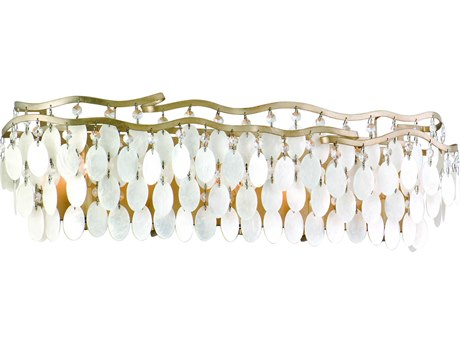 Corbett Lighting Dolce Champagne Leaf Five-Light 28'' Wide Wall Sconce CT10965
