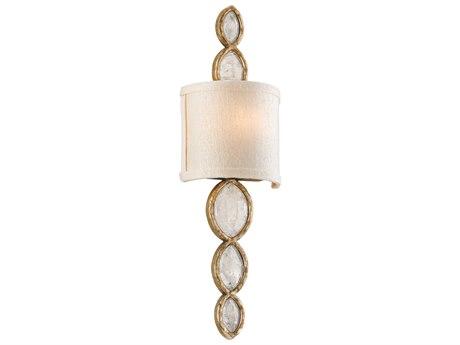 Corbett Lighting Fame & Fortune Brazilian Silver Leaf 7'' Wide Wall Sconce CT16711