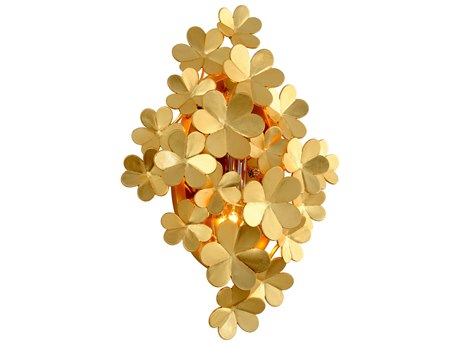 Corbett Lighting Gigi Gold Leaf Two-Light 13'' Wide Wall Sconce