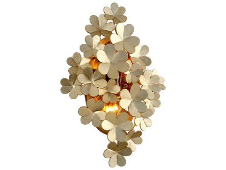Corbett Lighting Gigi Silver Leaf Two-Light 13'' Wide Wall Sconce