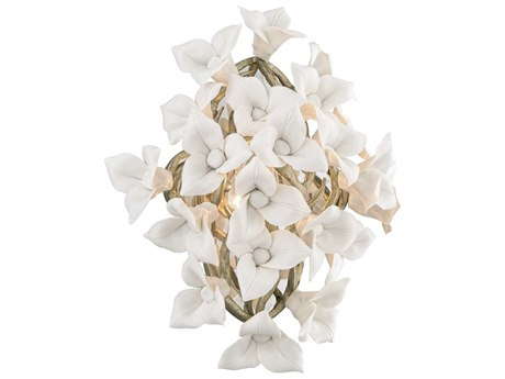 Corbett Lighting Lily Enchanted Silver Leaf 13'' Wide Wall Sconce