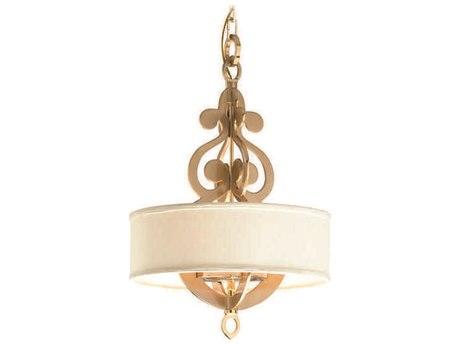 Corbett Lighting Olivia Satin and Polished Brass Four-Light 17'' Wide Pendant Light