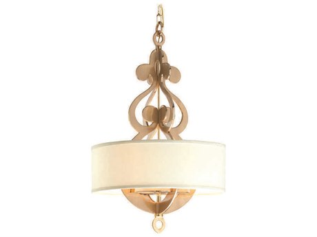 Corbett Lighting Olivia Satin and Polished Brass Eight-Light 24'' Wide Pendant Light
