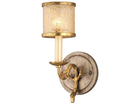 Corbett Lighting Parc Royale Gold and Silver Leaf 6'' Wide Wall Sconce CT6661