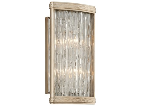 Corbett Lighting Pipe Dream Silver Leaf / Polished Stainless Two-Light 8'' Wide Wall Sconce CT19312
