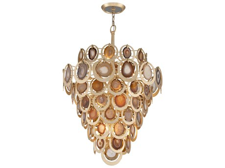 Corbett Lighting Rockstar Gold Leaf 16-Light 33'' Wide Pendant Light