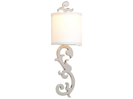 Corbett Lighting Romeo Polished Nickel 7'' Wide Wall Sconce CT15211