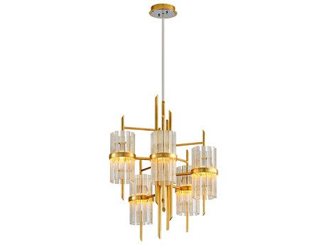 Corbett Lighting Symphony Gold Leaf Five-Light 27'' Wide Chandelier