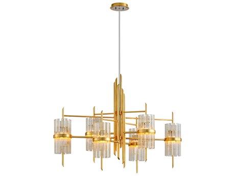 Corbett Lighting Symphony Gold Leaf Six-Light 48'' Wide Chandelier CT25756