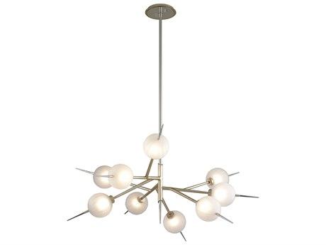 Corbett Lighting Tempest Satin Silver Leaf 42'' Wide Glass LED CT26309