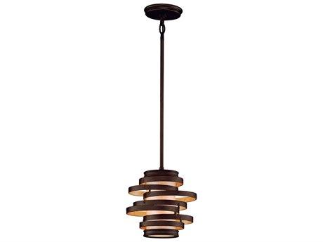 Corbett Lighting Vertigo Bronze / Gold Leaf  10'' Wide Incandescent Mini-Pendant Light CT11341