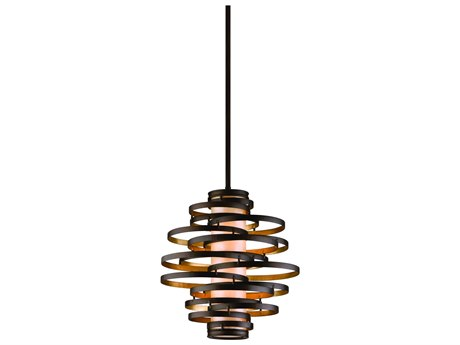 Corbett Lighting Vertigo Bronze / Gold Leaf Two-Light 18'' Wide Incandescent Pendant Light CT11342