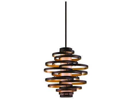 Corbett Lighting Vertigo Bronze / Gold Leaf Three-Light 23'' Wide Incandescent Pendant Light CT11343