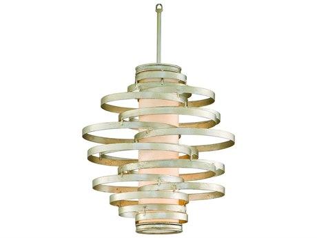 Corbett Lighting Vertigo Modern Silver Two-Light 18'' Wide Incandescent Pendant Light CT12842