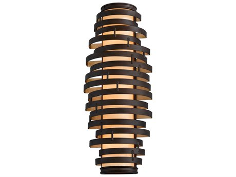 Corbett Lighting Vertigo Bronze / Gold Leaf Three-Light 10'' Wide Incandescent Wall Sconce CT11313