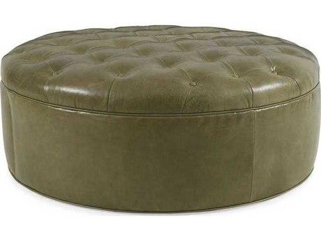 CR Laine Columbus Leather Ottoman