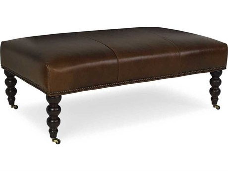 CR Laine Yates Leather Ottoman