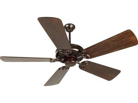 Craftmade American Tradition Oiled Bronze 54 Inch Wide Ceiling Fan with Premier Blades in Hand-Scraped Walnut
