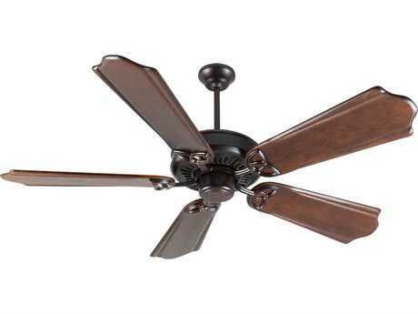 Craftmade American Tradition Oiled Bronze 56 Inch Wide Ceiling Fan with Custom Carved Blades in Classic Ebony
