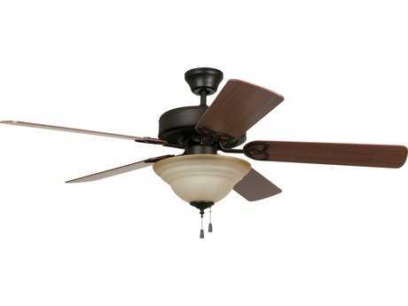 Craftmade Ellington Builder Deluxe Aged Bronze 52'' Blade Indoor Ceiling Fan with Two-Light Incandescent Light Kit