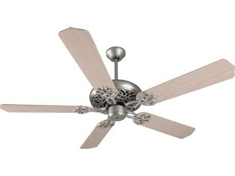 Craftmade Cecilia Brushed Satin Nickel 52 Inch Wide Ceiling Fan with Contractor Standard Blades in White Washed