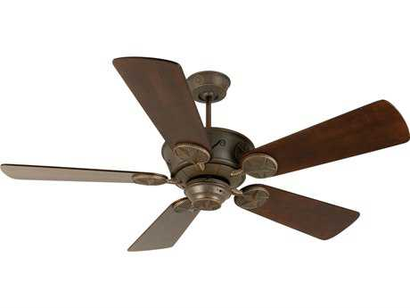 Craftmade Chaparral Aged Bronze Textured 54 Inch Wide Ceiling Fan with Premier Blades in Distressed Walnut