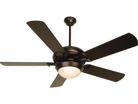 Craftmade Civic Oiled Bronze Two-Light 52 Inch Wide Ceiling Fan with Plus Series Blades and Cased White Light Kit