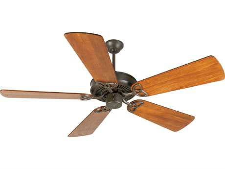 Craftmade CXL Aged Bronze Textured 54 Inch Wide Ceiling Fan with Premier Blades in Distressed Teak