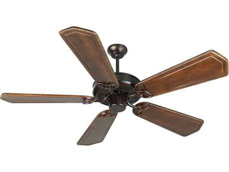 Craftmade CXL Oiled Bronze 56 Inch Wide Ceiling Fan with Custom Carved Blades in Ophelia Walnut/Vintage Madera