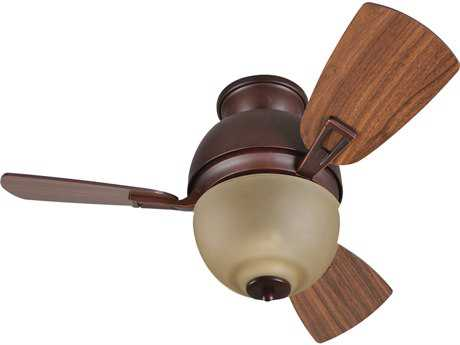 Craftmade Dane Oiled Bronze Gilded Two-Light 30 Inch Wide Ceiling Fan with Walnut Blades