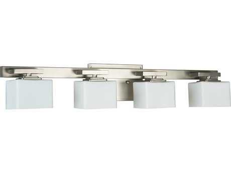 Craftmade Jeremiah Encanto Four-Light Vanity Light in Brushed Nickel with Opal Glass CM13329BNK4