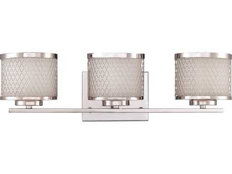 Craftmade Jeremiah Euclid Three-Light Vanity Light in Chrome with Frosted Opal Glass CM16621CH3