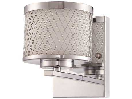 Craftmade Jeremiah Euclid Wall Sconce in Chrome with Frosted Opal Glass CM16606CH1