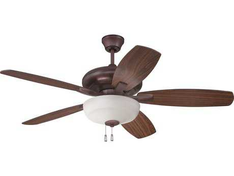 Craftmade Forza Oiled Bronze Three-Light 52 Inch Wide Ceiling Fan with Oiled Bronze & Walnut Blades