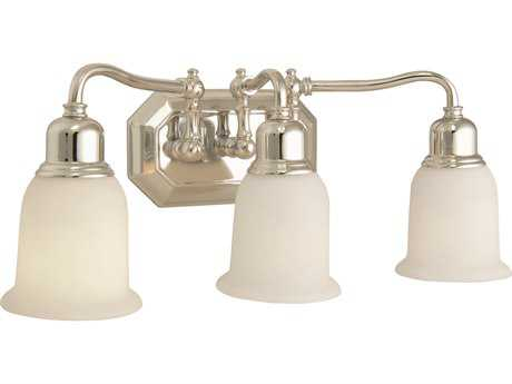 Craftmade Jeremiah Heritage Three-Light Vanity Light in Chrome with Frosted White Glass CM15819CH3