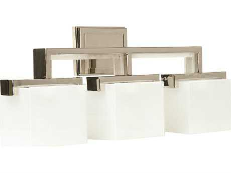 Craftmade Jeremiah Kade Three-Light Vanity Light in Polished Nickel with Frost White Glass CM18226PLN3