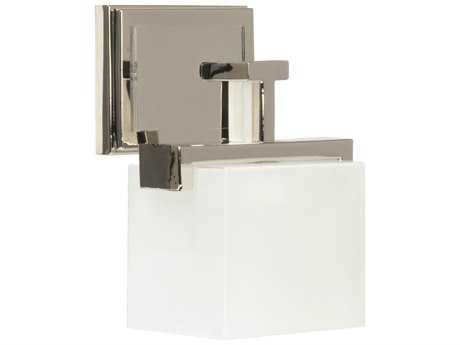 Craftmade Jeremiah Kade Wall Sconce in Polished Nickel with Frost White Glass CM18207PLN1