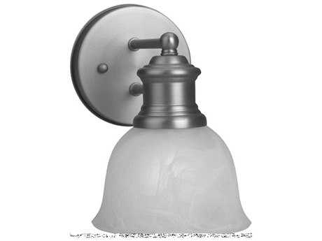 Craftmade Jeremiah-Light Rail Wall Sconce in Brushed Satin Nickel with Alabaster Glass CM19805BN1