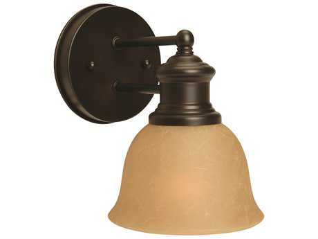 Craftmade Jeremiah-Light Rail Wall Sconce in Oiled Bronze with Tea-Stained Glass CM19805OB1