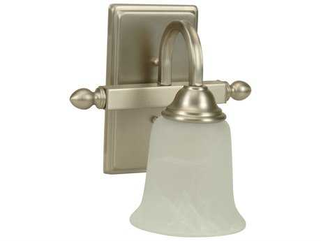 Craftmade Jeremiah Madison Wall Sconce in Brushed Satin Nickel with Alabaster Glass CM15209BN1