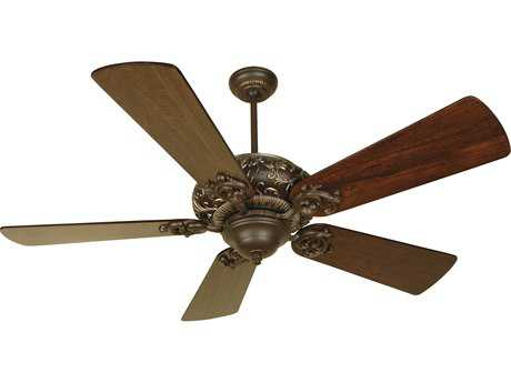 Craftmade Ophelia Aged Bronze/Vintage Madera 54 Inch Wide Ceiling Fan with Premier Blades in Distressed Walnut CMK10725