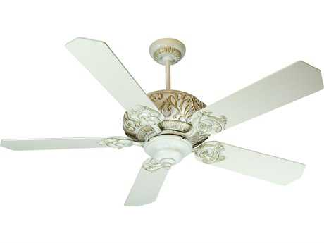 Craftmade Ophelia Antique White Distressed 52 Inch Wide Ceiling Fan with Standard Blades in Antique White CMK10727