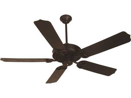 Craftmade Outdoor Patio Brown 52 Inch Wide Ceiling Fan with Outdoor Standard Blades