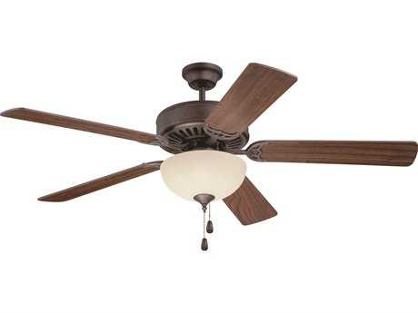 Craftmade Pro Builder 202 Aged Bronze Brushed 52'' Blade Indoor Ceiling Fan with Two-Light Fluorescent Light Kit