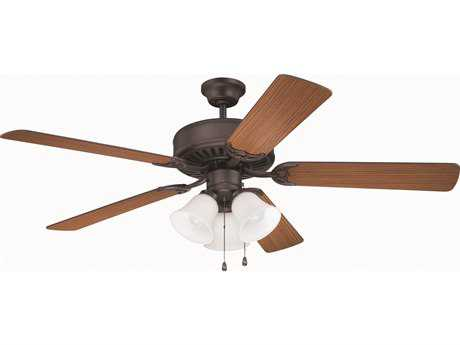 Craftmade Pro Builder 205 Aged Bronze Brushed 52'' Blade Indoor Ceiling Fan with Three-Light Incandescent Light Kit