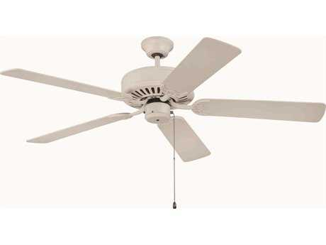 Craftmade Pro Builder Antique White 52 Inch Wide Ceiling Fan with Contractor Plus Series Blades CMK11133