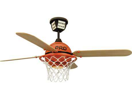 Craftmade ProStar Basketball ProStar Basketball One-Light 52 Inch Wide Ceiling Fan with Basketball Court Blades CMPS52BB4