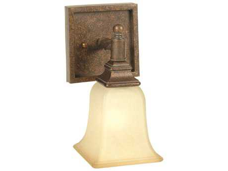 Craftmade Jeremiah Ryan Wall Sconce in Peruvian Bronze with Tea-Stained Glass CM15405PR1