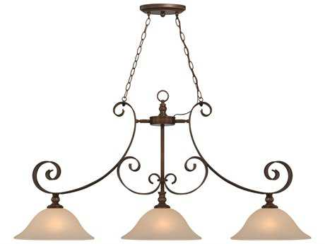 Craftmade Jeremiah Seville Three-Light Island Light in Spanish Bronze with Creamy Frosted Glass CM28073SPZ